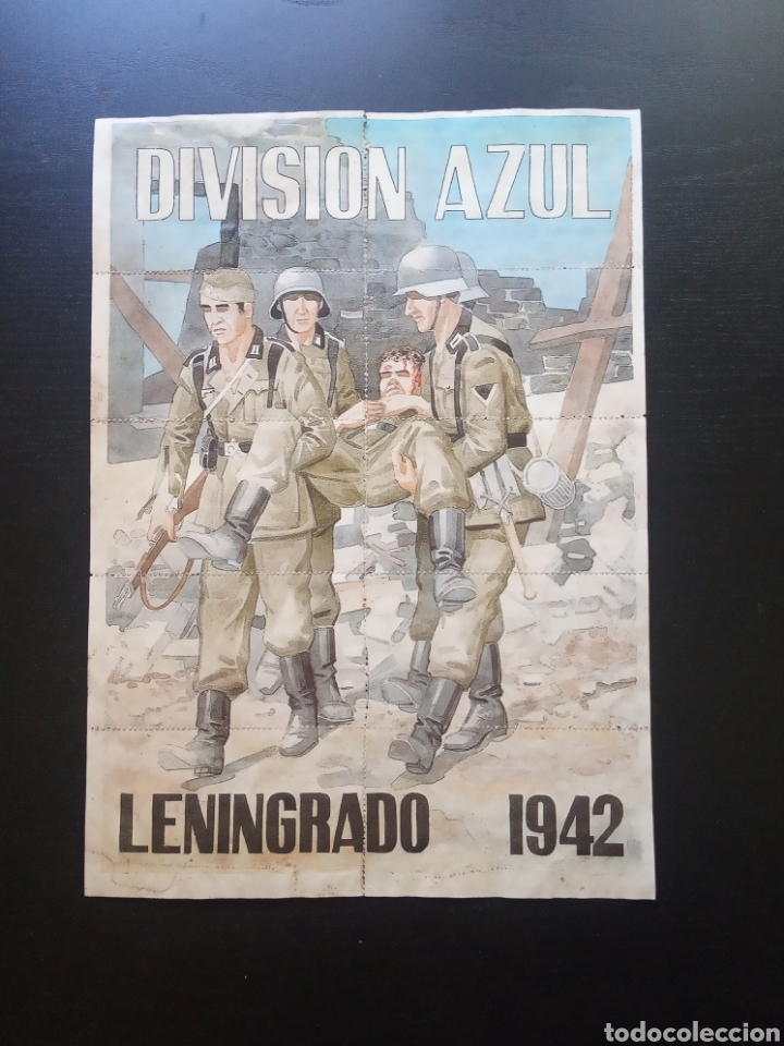 10 CUPONES RACIONAMIENTO. ALCALÁ DE HENARES, MADRID. LENINGRADO 1942. DIVISIÓN AZUL GUERRA CIVIL (Coleccionismo - Carteles Gran Formato - Carteles Guerra Civil)