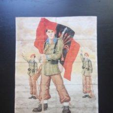 Carteles Guerra Civil: 10 CUPONES RACIONAMIENTO DE RASCAFRÍA, MADRID. DIVISIONARIO. FALANGE. DIVISION AZUL. GUERRA CIVIL. Lote 275505938