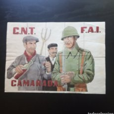 Carteles Guerra Civil: 10 CUPONES RACIONAMIENTO DE BORRIOL, CASTELLON. FEDERACION ANARQUISTA IBERICA. VALENCIA.GUERRA CIVIL. Lote 275506698