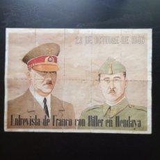 Affiches Guerre Civile: 10 CUPONES RACIONAMIENTO DE VILLAHOZ, BURGOS. FRANCO, HITLER, HENDAYA. GUERRA CIVIL. Lote 277456838