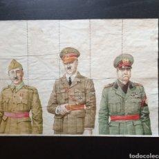 Carteles Guerra Civil: 10 CUPONES RACIONAMIENTO SAN LORENZO DEL ESCORIAL, MADRID. HITLER, FRANCO, MUSSOLINI.. Lote 277458623