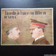 Carteles Guerra Civil: 10 CUPONES RACIONAMIENTO DE VALENCIA. HITLER, FRANCO, HENDAYA. GUERRA CIVIL. Lote 277458798