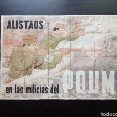 Carteles Guerra Civil: 10 CUPONES RACIONAMIENTO DE VILLENA, ALICANTE. ALISTADOS EN LAS MILICIAS DEL P.O.U.M. GUERRA CIVIL. Lote 277460093