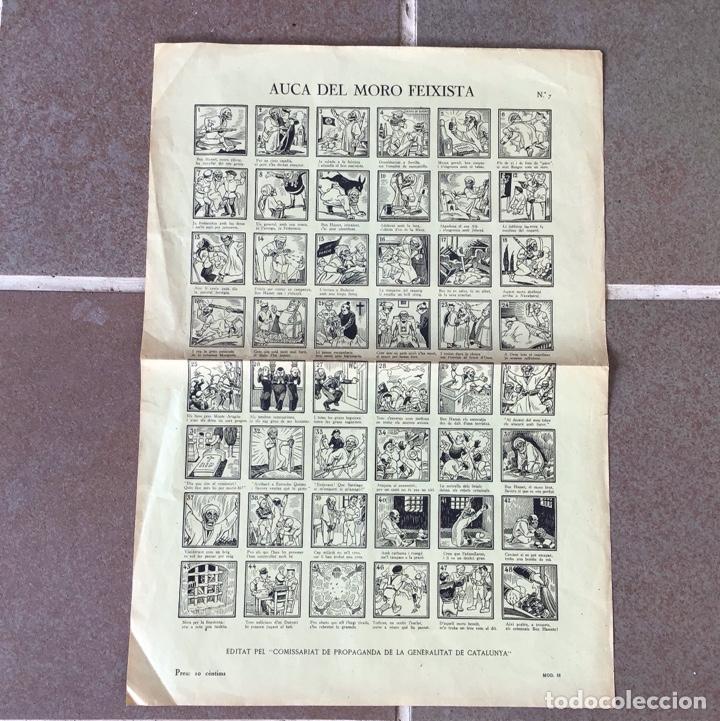 ORIGINAL - AUCA DEL MORO FEIXISTA - GUERRA CIVIL - REPUBLICANO - GENERALITAT DE CATALUNYA (Coleccionismo - Carteles Gran Formato - Carteles Guerra Civil)
