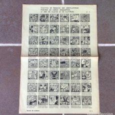 Carteles Guerra Civil: ORIGINAL - COMO EL FASCIO SE DERRUMBA FRENTE EL VALOR ESPAÑOL Nº 11 -GUERRA CIVIL. Lote 277684648