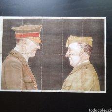 Affiches Guerre Civile: 10 CUPONES RACIONAMIENTO DE GIJÓN, ASTURIAS. FRANCISCO FRANCO, ADOLF HITLER. GUERRA CIVIL.. Lote 281773818