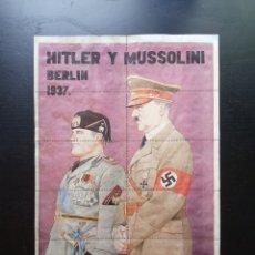 Affiches Guerre Civile: 10 CUPONES RACIONAMIENTO DE CANGAS DE TINEO, OVIEDO. ASTURIAS. MUSSOLINI, HITLER. BERLIN 1937.. Lote 281774073