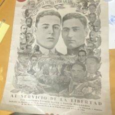 Carteles Guerra Civil: 1931.- CARTEL ORIGINAL CAPITANES FERMIN GALAN Y HERNANDEZ. AL SERVICIO DE LA LIBERTAD. 65X53CM. Lote 284587928