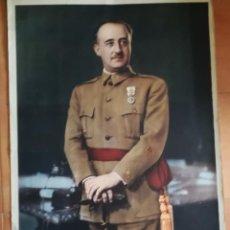 Carteles Guerra Civil: RETRATO OFICIAL DE FRANCISCO FRANCO,DE GRAN TAMAÑO 96X65-CM-LABORDE TOLOSA. Lote 292043448