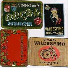 Affissi: LOTE DE 4 CHAPITAS DE PUBLICIDAD DE VALDESPINO. Lote 126933438