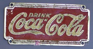 Chapa metalica troquelada drink coca cola or comprar - Chapa coca cola pared ...