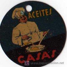 Carteles: CHAPA LITOGRAFIADA ACEITES CASAS 1930 APROX. Lote 11384632