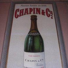Carteles: CARTON FRANCES MAISON FONDEE EN 1848 CHAPING % CIA, AÑOS 40 APROX. Lote 7984334