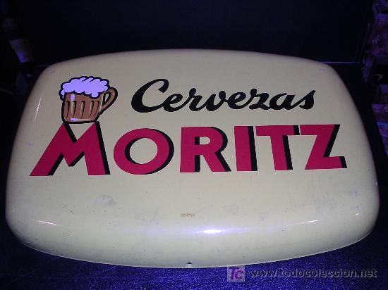 CHAPA DE CERVEZAS MORITZ , EDIT, FONTCUBERTA S.A., AÑOS 50 APROX ( ORIGINAL ) (Coleccionismo - Carteles y Chapas Esmaltadas y Litografiadas)