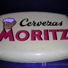Carteles: CHAPA DE CERVEZAS MORITZ , EDIT, FONTCUBERTA S.A., AÑOS 50 APROX ( ORIGINAL ). Lote 31675053