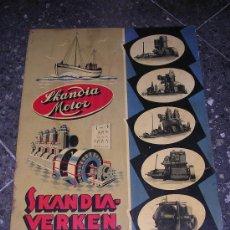 Carteles: CHAPA LITOGRAFIADA SKANDIA MOTOR, MADRID 1940 APROX. Lote 8619857