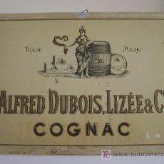 Carteles: CHAPA ALFRED DUBOIS,LIZEE -COGNAC. Lote 26850259