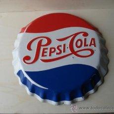 Carteles: CHAPA DE PEPSI-COLA PINTADA. Lote 23068889