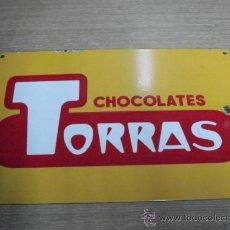 Carteles: CHAPA ESMALTADA DE CHOCOLATE TORRAS. Lote 23113933