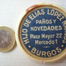 Carteles: ESPEJO PROPAGANDA , HIJOS DE ELIAS LOPEZ MARCOS , PAÑOS Y NOVEDADES - BURGOS. Lote 24679129