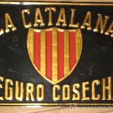 Carteles: 1930?.- CHAPA. LA CATALANA SEGURO COSECHA. G. DE ANDREIS. BADALONA. Lote 26480567