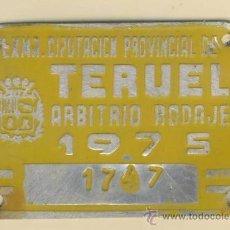 Carteles: MATRICULA DE CARRO -ARBITRIO DE RODAJE- CARRO-TERUEL- 1747-AÑO 1975. Lote 18081804