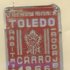 Carteles: MATRICULA DE CARRO -ARBITRIO RODAJE ANUAL- TOLEDO- 12743-AÑO 1966. Lote 18081814