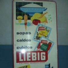 Carteles: CHAPA METALICA TAMAÑO500X250 CON PUBLICIDAD DE LIEBIG SOPAS CALDOS CUBITOS. Lote 10915034