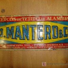 Carteles: CHAPA DE PUBLICIDAD EN RELIEVE D. MANTERO & CIA.. Lote 15221626