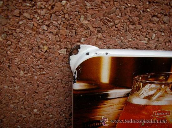 Carteles: Chapa esmaltada LIPTON . (( ESPECTACULAR )) - Foto 2 - 24844647