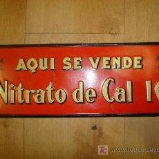 Carteles: CHAPA PUBLICITARIA DE NITRATO DE CAL IG. Lote 15221639