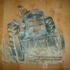 Carteles: CARTEL DE MADERA DE TRACTOR EBRO. Lote 25291684
