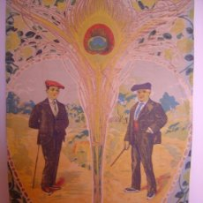 Affiches: CARTEL PUBLICITARIO EN PAPEL Y CARTÓN DE UNA PAÑÉRÍA.. EN LETRA 16 AÑOS-50 AÑOS .. Lote 26206184