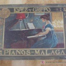 Cartazes: CARTEL METÁLICO. LÓPEZ Y GRIFFO. ANTIGUOS FABRICANTES DE PIANOS DE MÁLAGA. SIN PRECINTO.. Lote 96190598