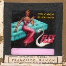 Carteles: PUBLICIDAD. CRISTAL PUBLICITARIO DE PROYECTOR DE CINE. COLCHON FLEX.. Lote 18817805