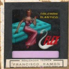Carteles: PUBLICIDAD. CRISTAL PUBLICITARIO DE PROYECTOR DE CINE. COLCHON FLEX.. Lote 18817813