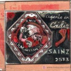 Carteles: PUBLICIDAD. CRISTAL PUBLICITARIO DE PROYECTOR DE CINE. AGENTE EN CADIZ SAINZ 2573.. Lote 18817924