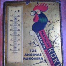 Carteles: MAGNIFICA CHAPA PUBLICIDAD 25X17 PASTILLAS KOKI TOS ANGINAS Y RONQUERA HIJOS DE G. BERTRAN BARNA. Lote 26232012