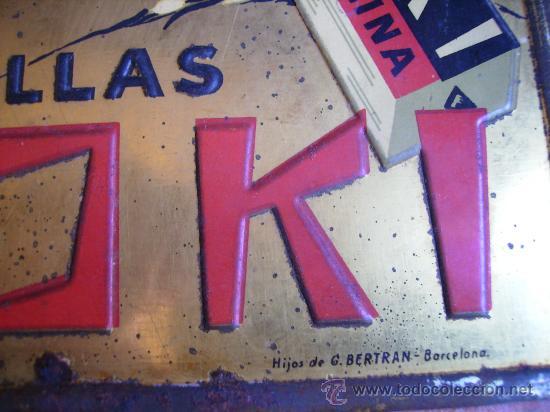 Carteles: magnifica chapa publicidad 25x17 pastillas koki tos anginas y ronquera hijos de g. bertran barna - Foto 2 - 26232012