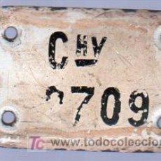 Carteles: FERROCARRILES. 1930. CHAPA ESMALTADA COLOCADAS EN LOS COCHES.. Lote 20364016