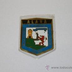 Carteles: CHAPA DE ALAVA DE 5 X 7 APROX, EN AZUL.. Lote 135060374
