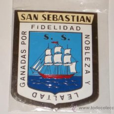Carteles: CHAPA DE SAN SEBASTIAN DE 5X7, COCHE MOTO CLASICA.. Lote 135060533