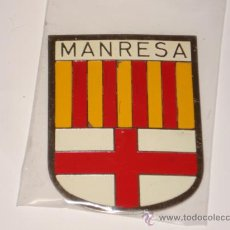 Carteles: CHAPA DE MANRESA DE 5 X 7, PARA COCHE, MOTO ANTIGUA.. Lote 148996374