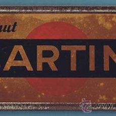 Carteles: MARCO METÁLICO Y RECLAMO EN CARTÓN. VERMUT MARTINI. METALGRÁFICA CASTELLANA S.A. MADRID.. Lote 26092529