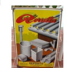 Carteles: CHAPA ESMALTADA ROCALLA 1940 EN RELIEVE - GRAN TAMAÑO - 105 X 66'5 CM, . Lote 27588617