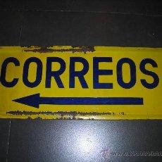 Carteles: (M) CHAPA ESMALTADA DE CORREOS - 50 X 20 CM, . Lote 27613721