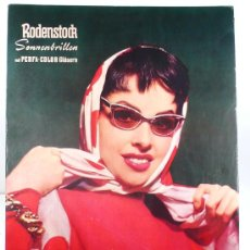 Carteles: RODENSTOCK, DISPLAY PUBLICIDAD GAFAS DE SOL, CON MARA LANE, 50 X 70 CM. 1960'S.. Lote 26876469