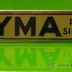 Carteles: CHAPA METALICA - CYMA RELOJ SIN IGUAL. Lote 27590269