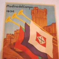 Carteles: MADINA DEL CAMPO 1934 - ASAMBLEA CASTELLANO LEONESA-VER FOTOS- MIDE 44 X 60 CM. - ( CARTEL-46). Lote 27632338