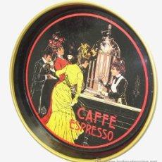 Carteles: BANDEJA METÁLICA DE CAFÉ EXPRESO. Lote 28919929
